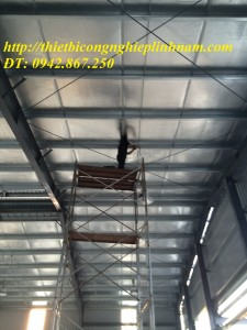 lắp hệ thống đèn cao áp nhà xưởng