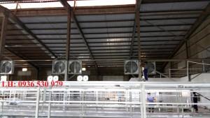 thi công hệ thống quạt thông gió nhà xưởng